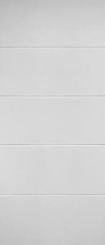 """7'0"""" Tall Contemporary Horizontal Panels Primed Barn Door Slab"""