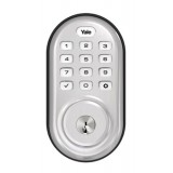Monaco Push Button Deadbolt Satin Nickel
