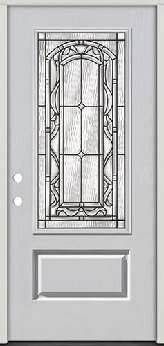 3/4 Lite Fiberglass Prehung Door Unit #272