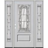 3/4 Lite Fiberglass Prehung Door Unit with Sidelites #272