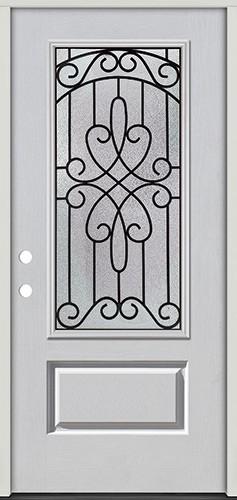 3/4 Lite Fiberglass Prehung Door Unit #279