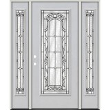Full Lite Fiberglass Prehung Door Unit with Sidelites #292