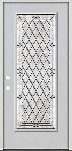 Diamond Full Lite Fiberglass Prehung Door Unit #294