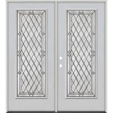 Diamond Full Lite Fiberglass Prehung Double Door Unit #294