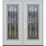 Full Lite Fiberglass Prehung Double Door Unit #297