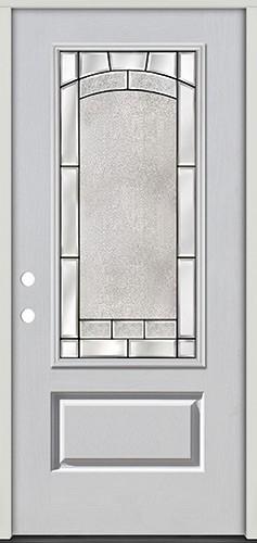 3/4 Lite Fiberglass Prehung Door Unit #67