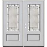 3/4 Lite Fiberglass Prehung Double Door Unit #67