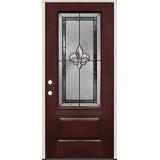 Fleur-de-lis 3/4 Lite Fiberglass Prehung Door Unit #48