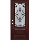 3/4 Lite #279 Pre-finished Fiberglass Door Prehung in Pre-finished Jambs