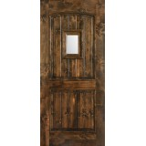 Hamilton 2-Panel Arch Knotty Alder Wood Door Slab #7322