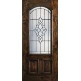 Hamilton 2/3 Arch Lite Knotty Alder Wood Door Slab #7651