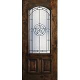 Hamilton Star 2/3 Arch Lite Knotty Alder Wood Door Slab #7661