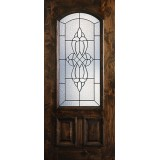 Hamilton 2/3 Arch Lite Knotty Alder Wood Door Slab #7663