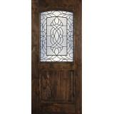Hamilton 1/2 Arch Lite Knotty Alder Wood Door Slab #7681
