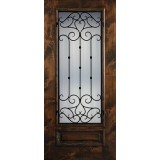 Hamilton 3/4 Lite Grille Knotty Alder Wood Door Slab #7711