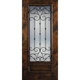 Hamilton 3/4 Lite Grille Knotty Alder Wood Door Slab #7711