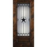 Hamilton Star 3/4 Lite Grille Knotty Alder Wood Door Slab #7723