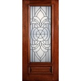 Hamilton 3/4 Lite Mahogany Wood Door Slab #7114