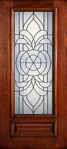 Hamilton 3/4 Lite Mahogany Wood Door Slab #7114