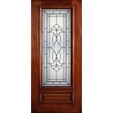 Hamilton 3/4 Lite Mahogany Wood Door Slab #7133