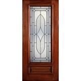 Hamilton 3/4 Lite Mahogany Wood Door Slab #7134