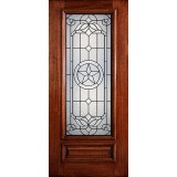 Hamilton Star 3/4 Lite Mahogany Wood Door Slab #7144