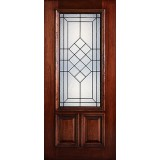 Hamilton 2/3 Lite Mahogany Wood Door Slab #7153