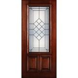 Hamilton 2/3 Lite Mahogany Wood Door Slab #7153