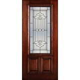 Hamilton 2/3 Lite Mahogany Wood Door Slab #7162