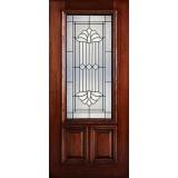 Hamilton 2/3 Lite Mahogany Wood Door Slab #7162