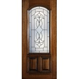 Hamilton 2/3 Arch Lite Mahogany Wood Door Slab #7172