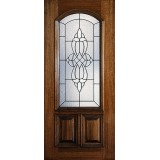 Hamilton 2/3 Arch Lite Mahogany Wood Door Slab #7181