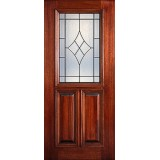 Hamilton 1/2 Lite Mahogany Wood Door Slab #7194