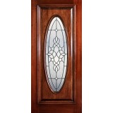 Hamilton Full Oval Mahogany Wood Door Slab #7232
