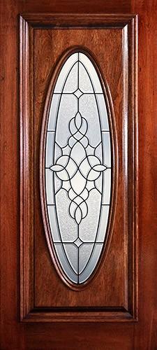 Hamilton Full Oval Mahogany Wood Door Slab #7232