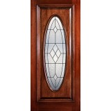 Hamilton Full Oval Mahogany Wood Door Slab #7243
