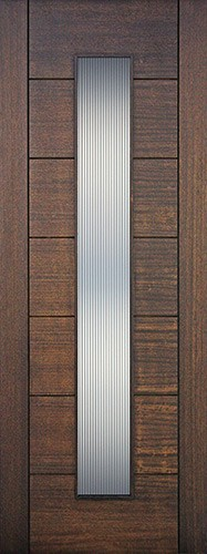 Cheap 8 0 Quot Tall Modern Vertical 1 Lite Mahogany Wood Door Slab