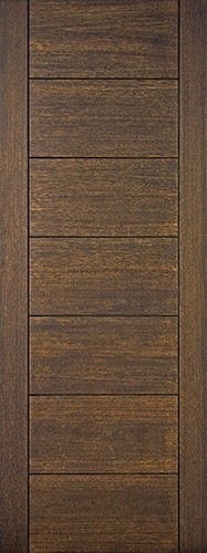 "8'0"" Tall Modern 7 Panel Mahogany Wood Door Slab"