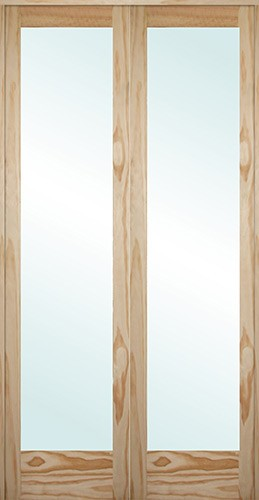 Cheap 8 39 0 tall full lite pine interior prehung double - 8 foot tall interior french doors ...
