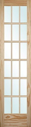 "8'0"" Tall 18-Lite Pine Interior Wood Door Slab"