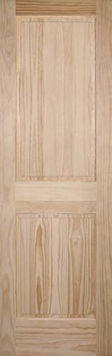 "8'0"" Tall 2-Panel Pine Interior Wood Door Slab"