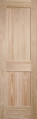 "8'0"" Tall 2-Panel Shaker Pine Interior Wood Door Slab"