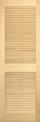 """8'0"""" Tall Traditional Louver Louver Pine Interior Wood Door Slab"""