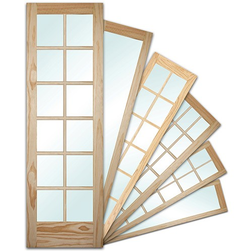 "8'0"" Tall Pine & Oak French Doors Special Buy Assortment"