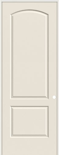 "8'0"" 2-Panel Arch Smooth Molded Interior Prehung Door Unit"