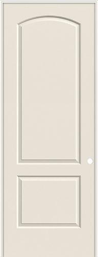 "8'0"" 2-Panel Arch Smooth Molded Interior Prehung Door Unit"