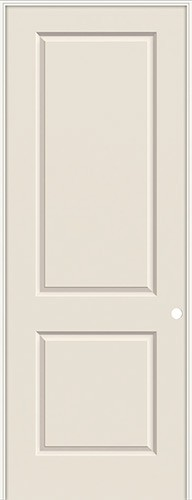 "8'0"" 2-Panel Smooth Molded Interior Prehung Door Unit"