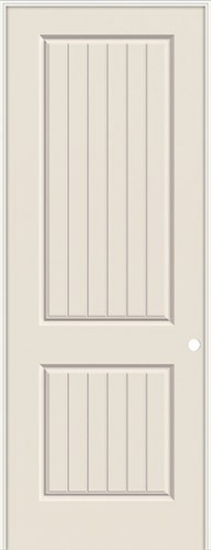 "8'0"" 2-Panel V-Groove Smooth Molded Interior Prehung Door Unit"