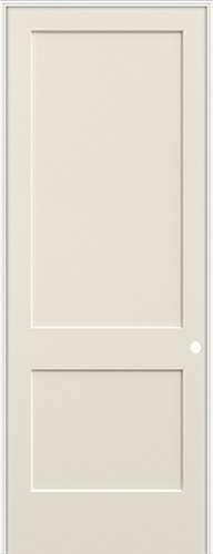 "8'0"" 2-Panel Flat Smooth Molded Interior Prehung Door Unit"