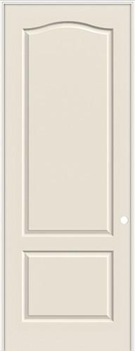 "8'0"" 2-Panel Eyebrow Smooth Molded Interior Prehung Door Unit"